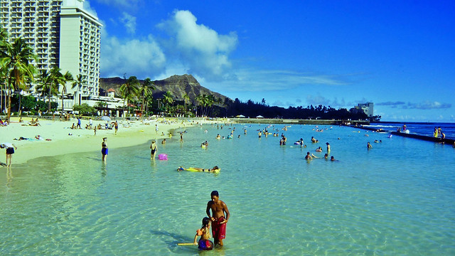 Beach in Honolulu auf Hawaii