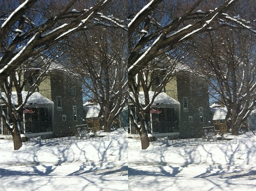 Tree snow fall 3D parallel | by philethier