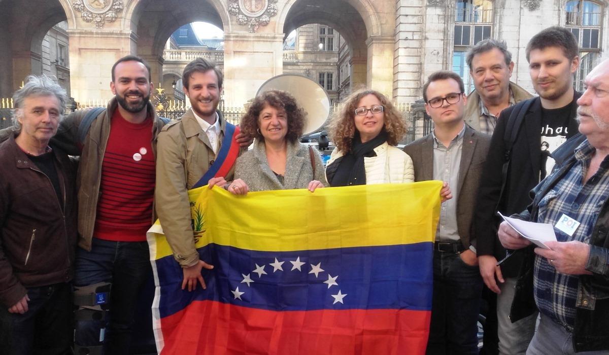 Franceses expresan su respaldo a la soberanía de Venezuela