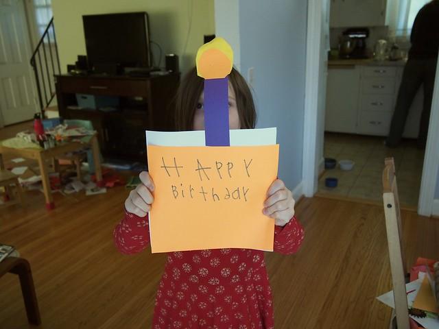 M made me a birthday cupcake!