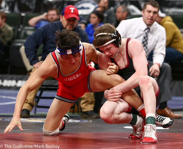 120AAA 3rd Place Match - Nic Cantu (Albert Lea Area) 41-10 won by decision over Nick Novak (New Prague) 48-4 (Dec 2-1) - 190302cmk0031