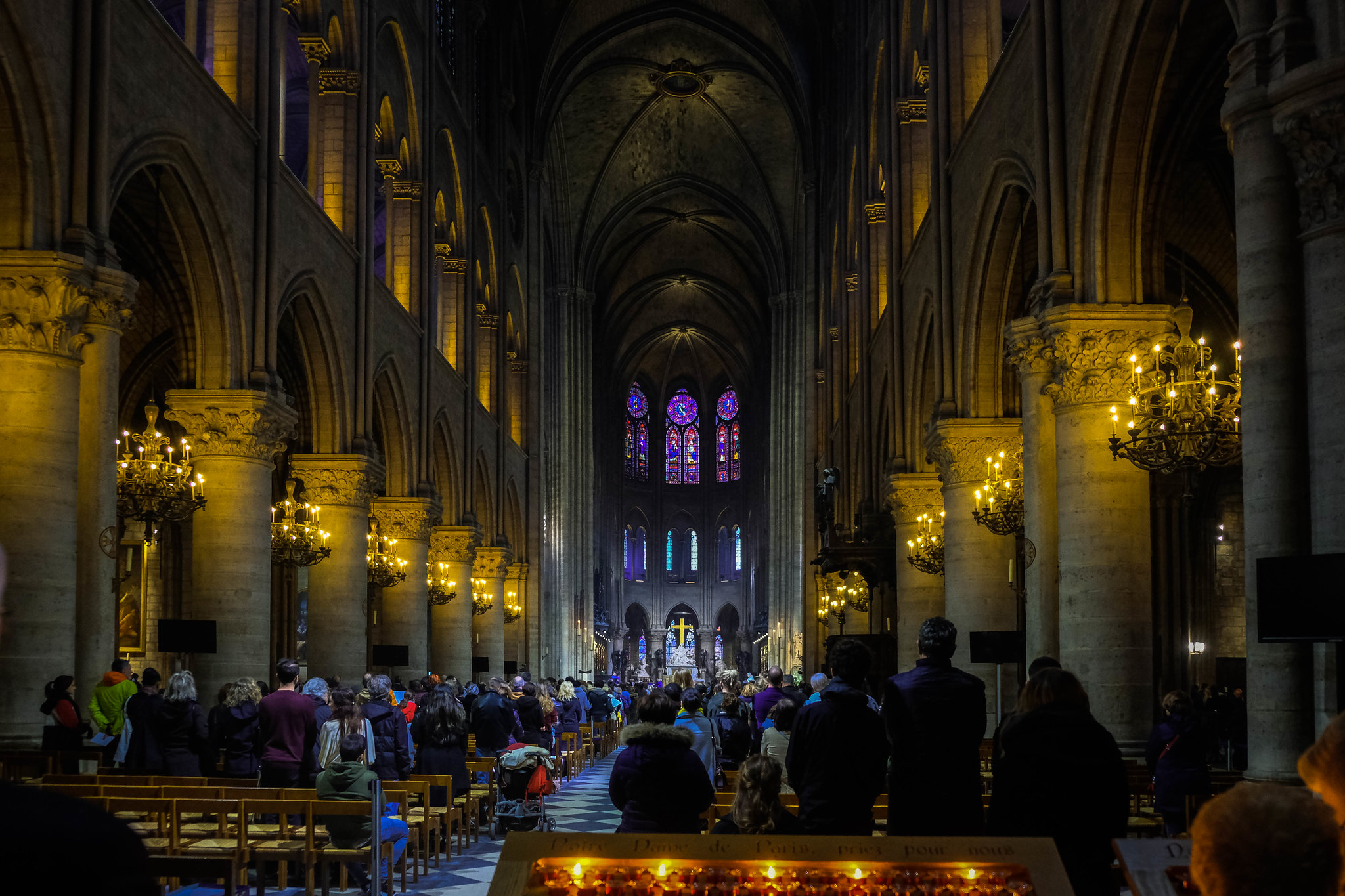 Inside Notre-Dame de Paris, March 2019