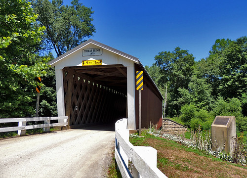 thomasford covered bridge structures transportation water creek stream scenic scenery landscapes indiana county pa pennsylvania patriotportraits neatroadtrips