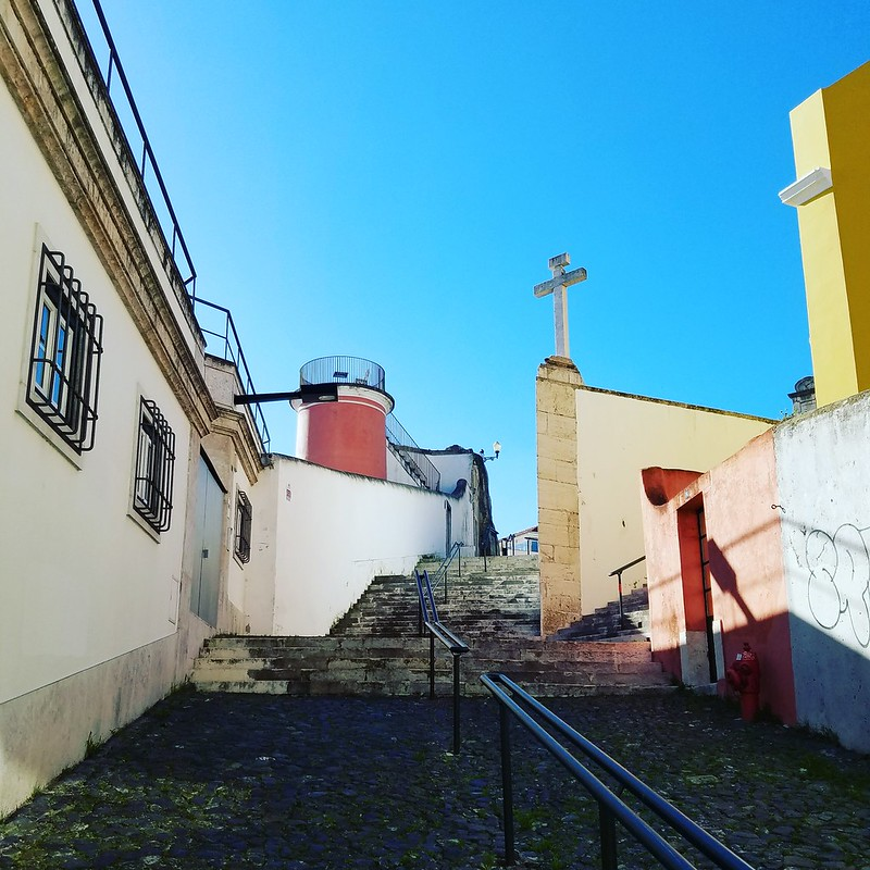 Stairs and cross