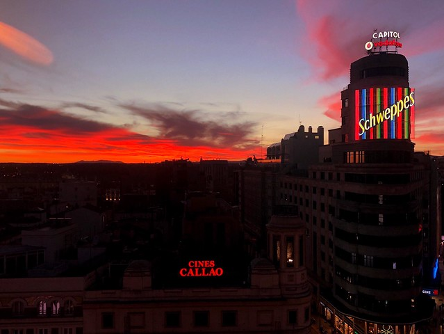 Sunset in Madrid.