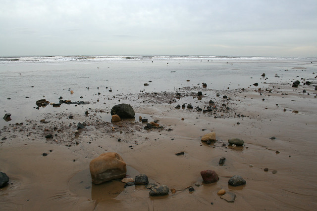 The beach south of Redcar