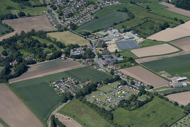 Friskney in Lincolnshire - aerial image