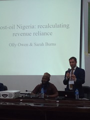 Olly presenting -Post-oil Nigeria- recalculating revenue reliance