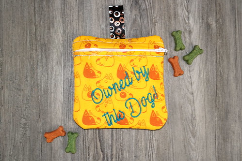 Dog Treat Pouch - Back | by Christy @ Raining Crafts & Dogs
