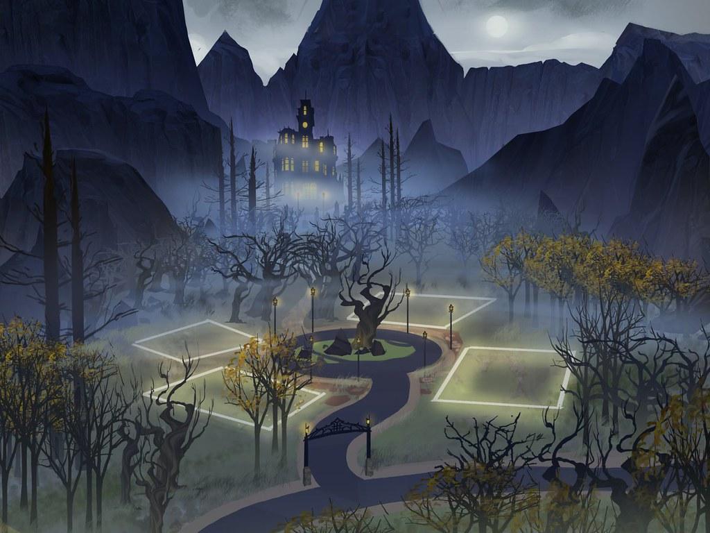 The Sims 4 Vampiros: Arte Conceitual de Forgotten Hollow