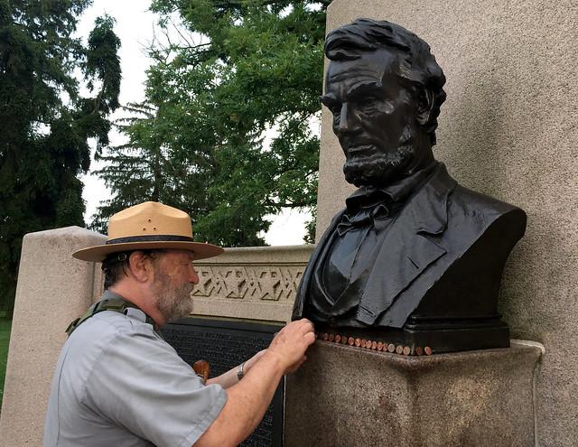 Gathering Lincoln Pennies, Gettysburg Address Memorial