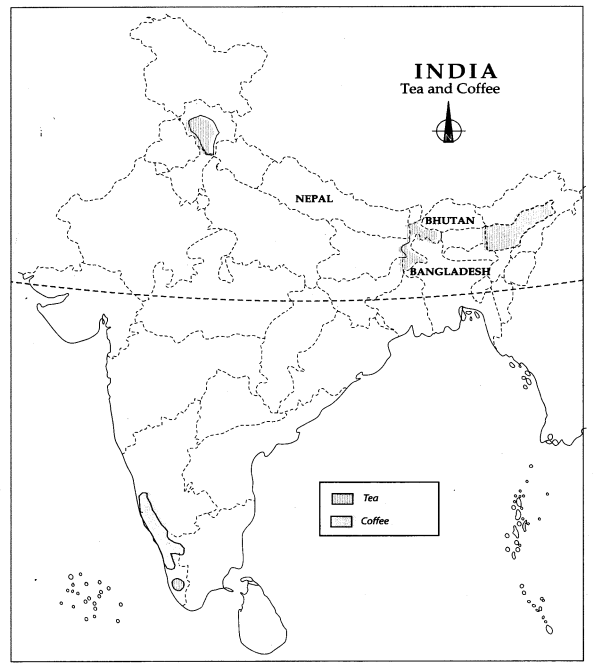 Class 10 Geography Map Work Chapter 4 Agriculture 4
