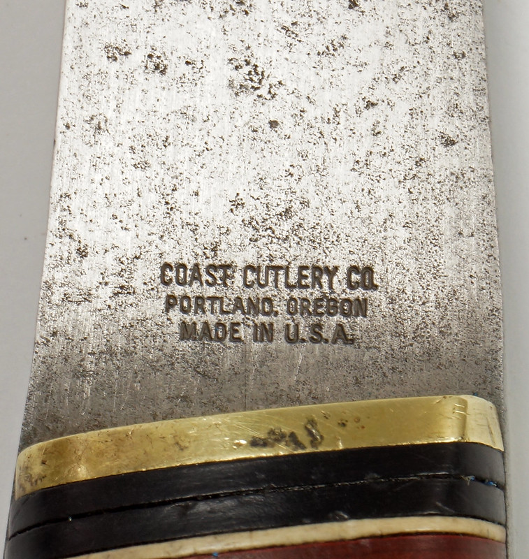RD27730 Vintage The Coast Cutlery Axe Hatchet All Steel Leather Wrapped Handle Portland Oregon DSC09934