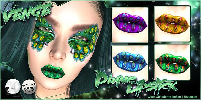 Venge - Catwa & Lelutka - Plume lipstick