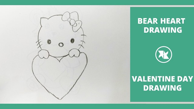 How to Draw a Cute Polar Bear with a Love Heart Happy Valentine