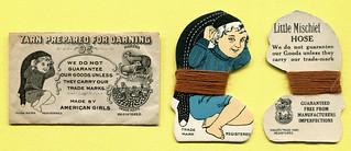Kleines Kuvert ( 4,5 x 7,5 cm) in dem  etwas Stopfgarn ist. | by altpapiersammler