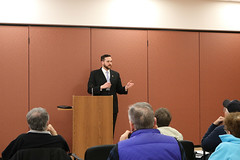 Rep. Davis hosted a legislative update at the Ellington Senior Center