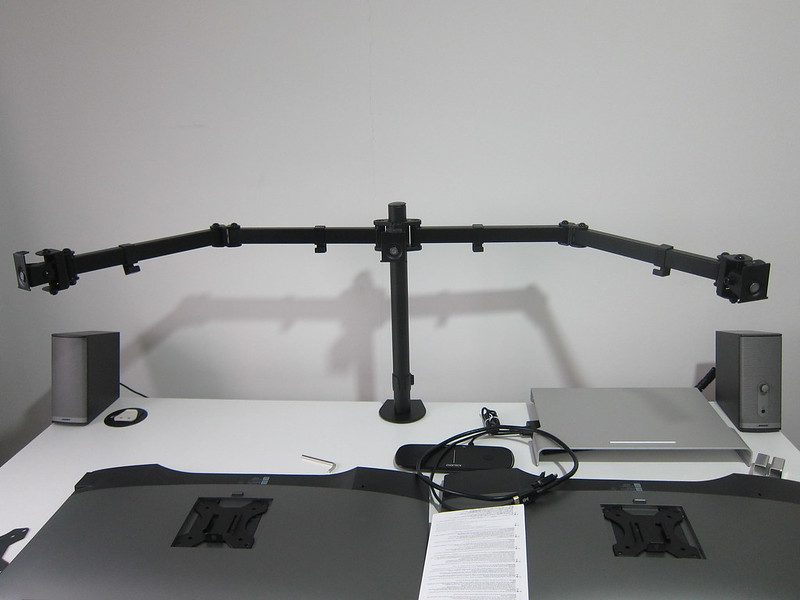 PRISM+ Vantage Triple Monitor VESA Monitor Arm - Mounted On Table