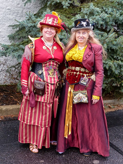 Two Well Dressed Steampunk Ladies