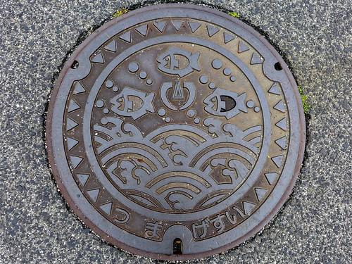 Tsuma Shimane, manhole cover 2 (島根県都万村のマンホール2)