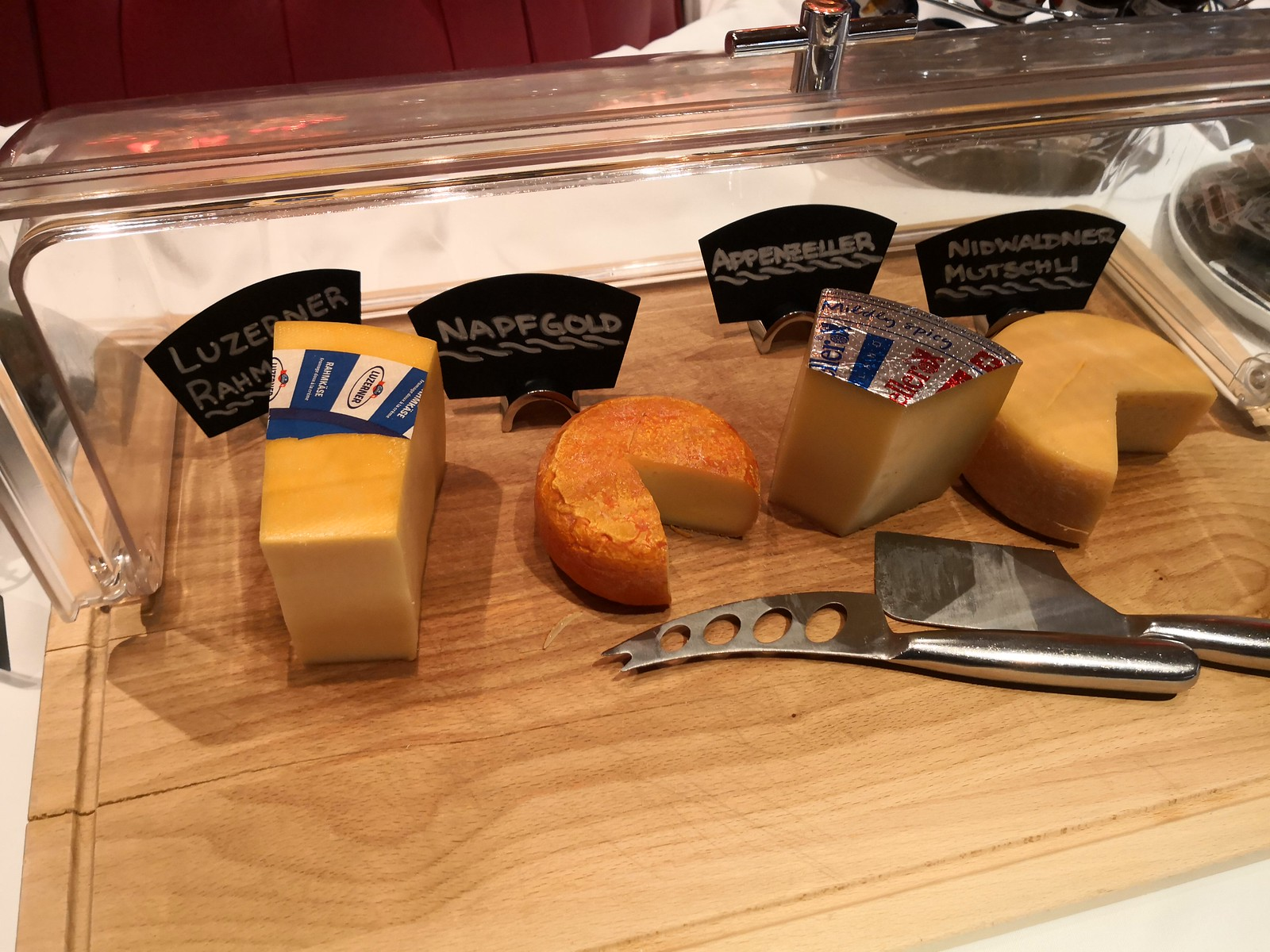 Cheese on the buffet