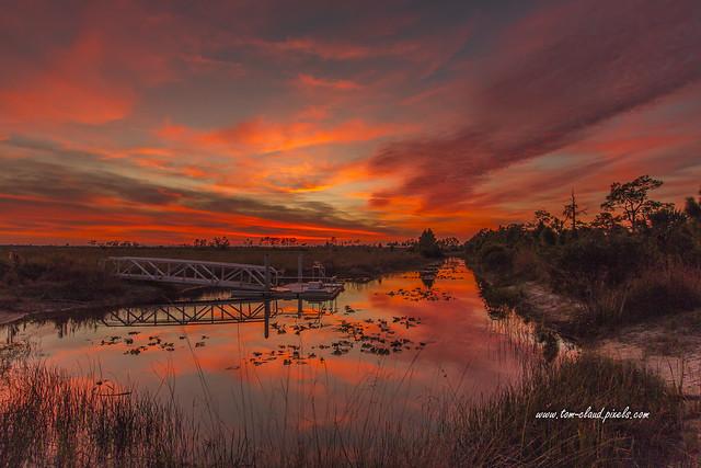 Explosive Sunset at Pine Glades