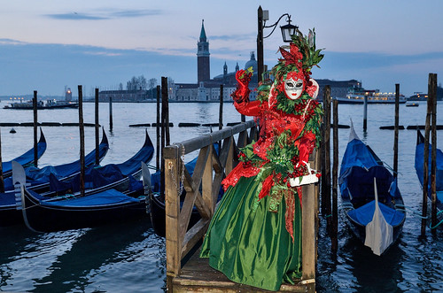 sunrise at Venice carnival