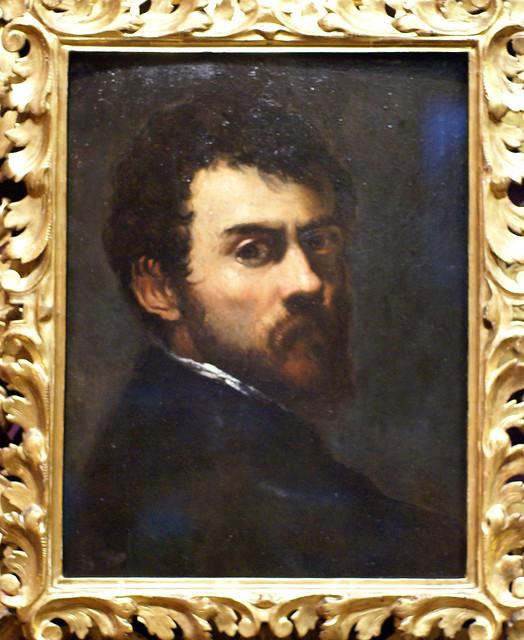 Jacopo Tintoretto, Selbstbildnis als junger Man - Selfportrait as a Young Man -  Autoritratto come giovane uomo