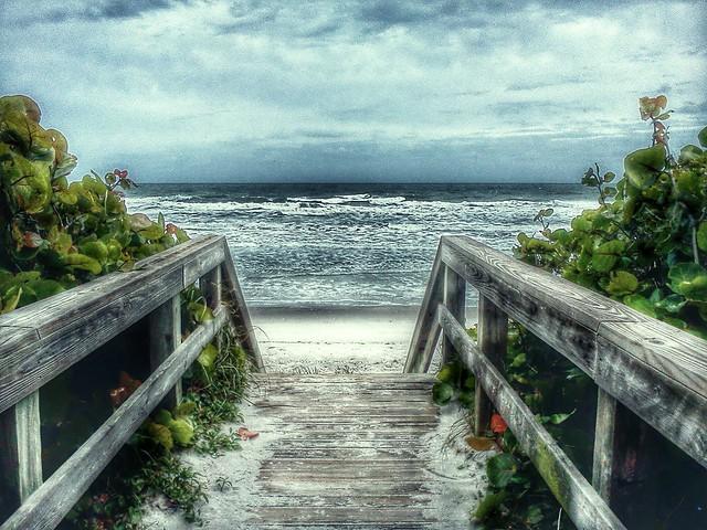 Beach Entrance near Satellite Beach, FL