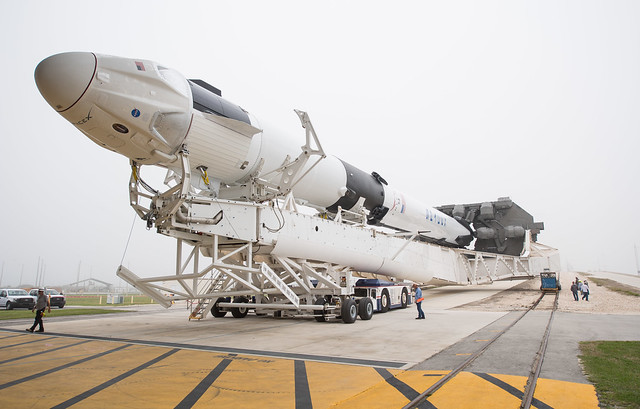 SpaceX Demo-1 Rollout (NHQ201902280003)