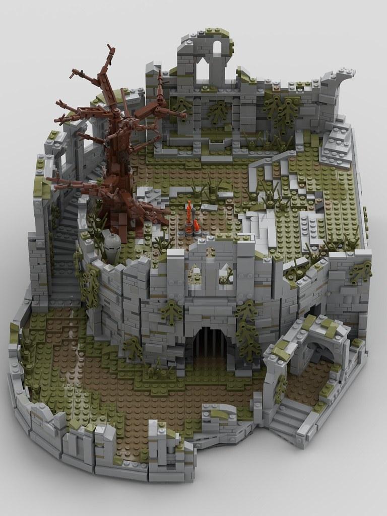 Lego MOC - Firelink Shrine (Dark Souls)