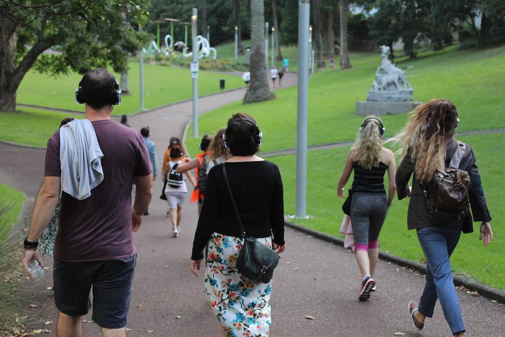 People walking in the Myers Park Kroad 2019