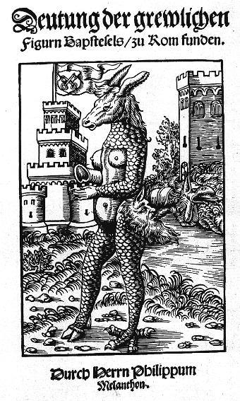 Philipp Melanchthon, Bapstesel, 1523