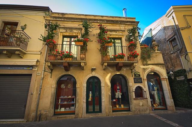 A shop house in Taormina