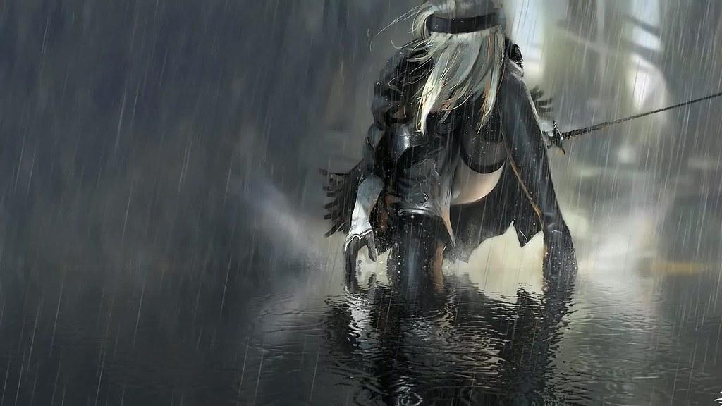 Nier Automata Rain Live Wallpaper