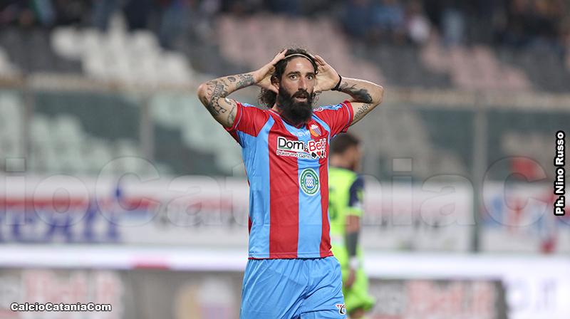 Alessandro Marotta con la maglia del Catania
