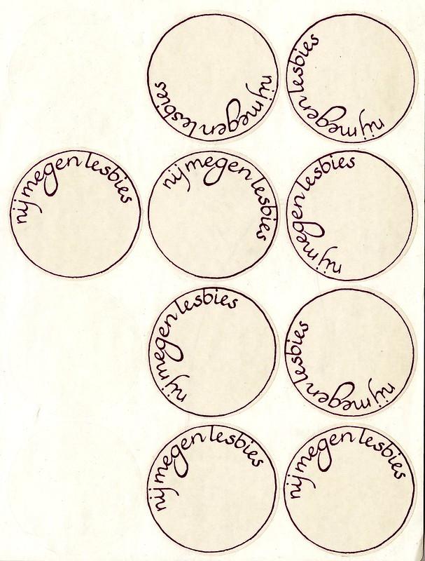 1982 stickervel 'Nijmegen Lesbies'