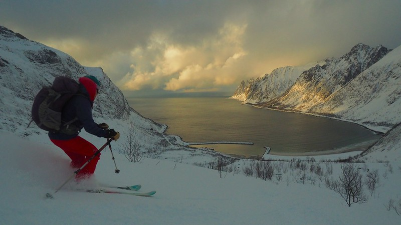 Ski to the sea Location: Arctic Norway Skier: Lisa Allwood