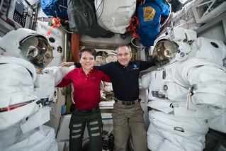 Astronauts Anne McClain and David Saint Jacques | by NASA Johnson