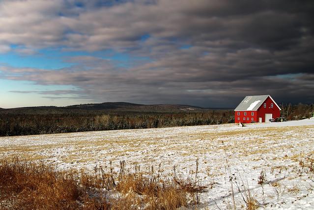 Winter in rural northern Maine