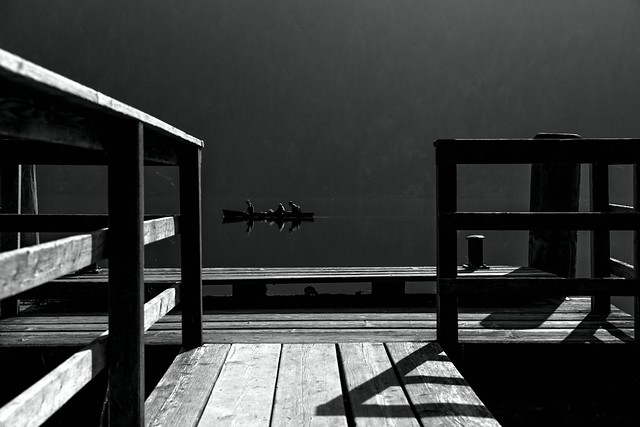Rowing through the silence...