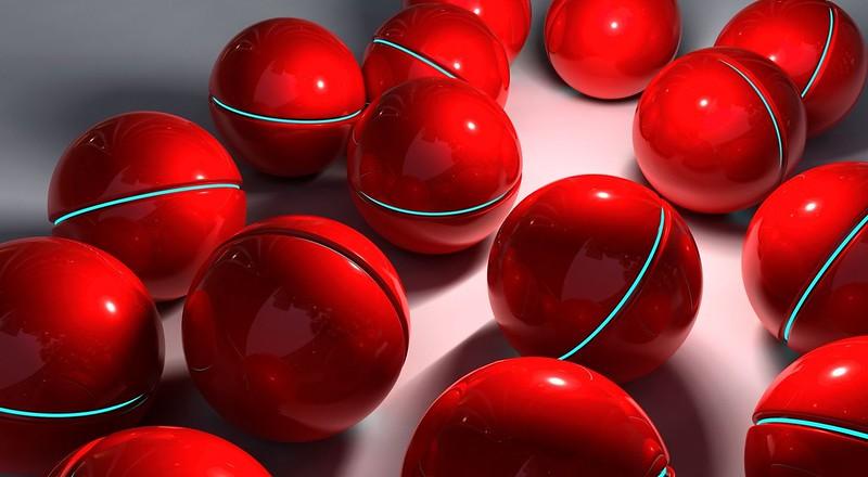 Обои шары, сфера, красный, стекло картинки на рабочий стол, фото скачать бесплатно