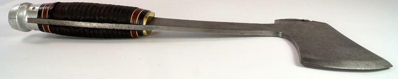RD27730 Vintage The Coast Cutlery Axe Hatchet All Steel Leather Wrapped Handle Portland Oregon DSC09939