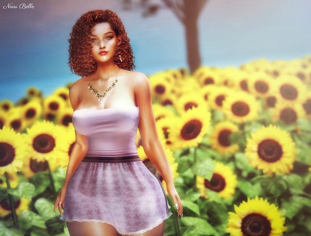 """""""A sunflower field is like a sky with a thousand suns."""""""