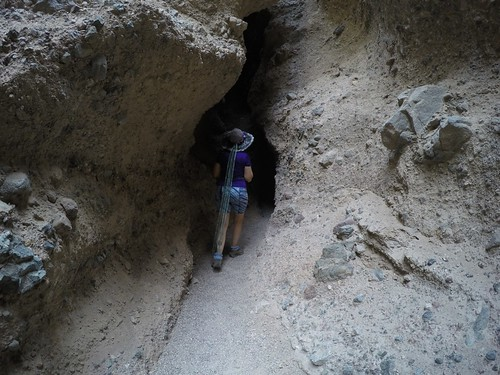1275 Vicki entering the darkest section of Slot Canyon Two in Sidewinder Canyon | by _JFR_