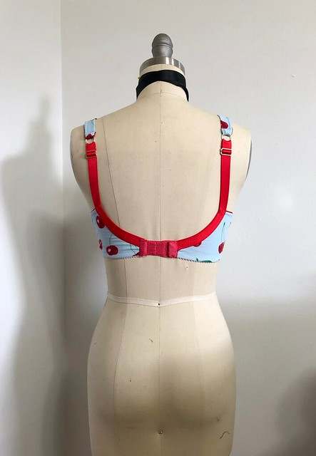Boylston Bra made with Cherry Cotton Knit from Mood Fabrics