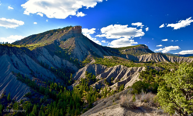 Perins Peak viewed from Hogsback Ridge, Durango, Colorado