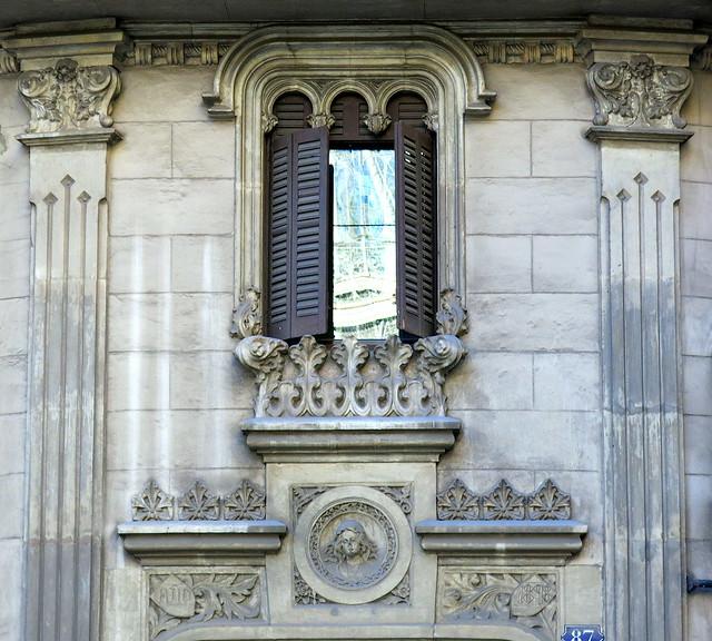 A little window over a doorway, Barcelona