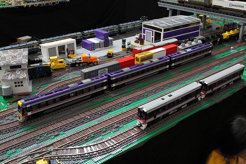 Lego model of a V/Line VLocity train