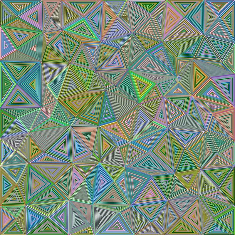 Обои полигон, треугольник, иллюзия, геометрический картинки на рабочий стол, фото скачать бесплатно